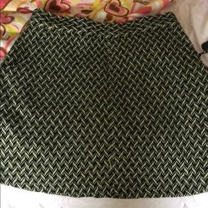 Brand new black and cream wool skirt